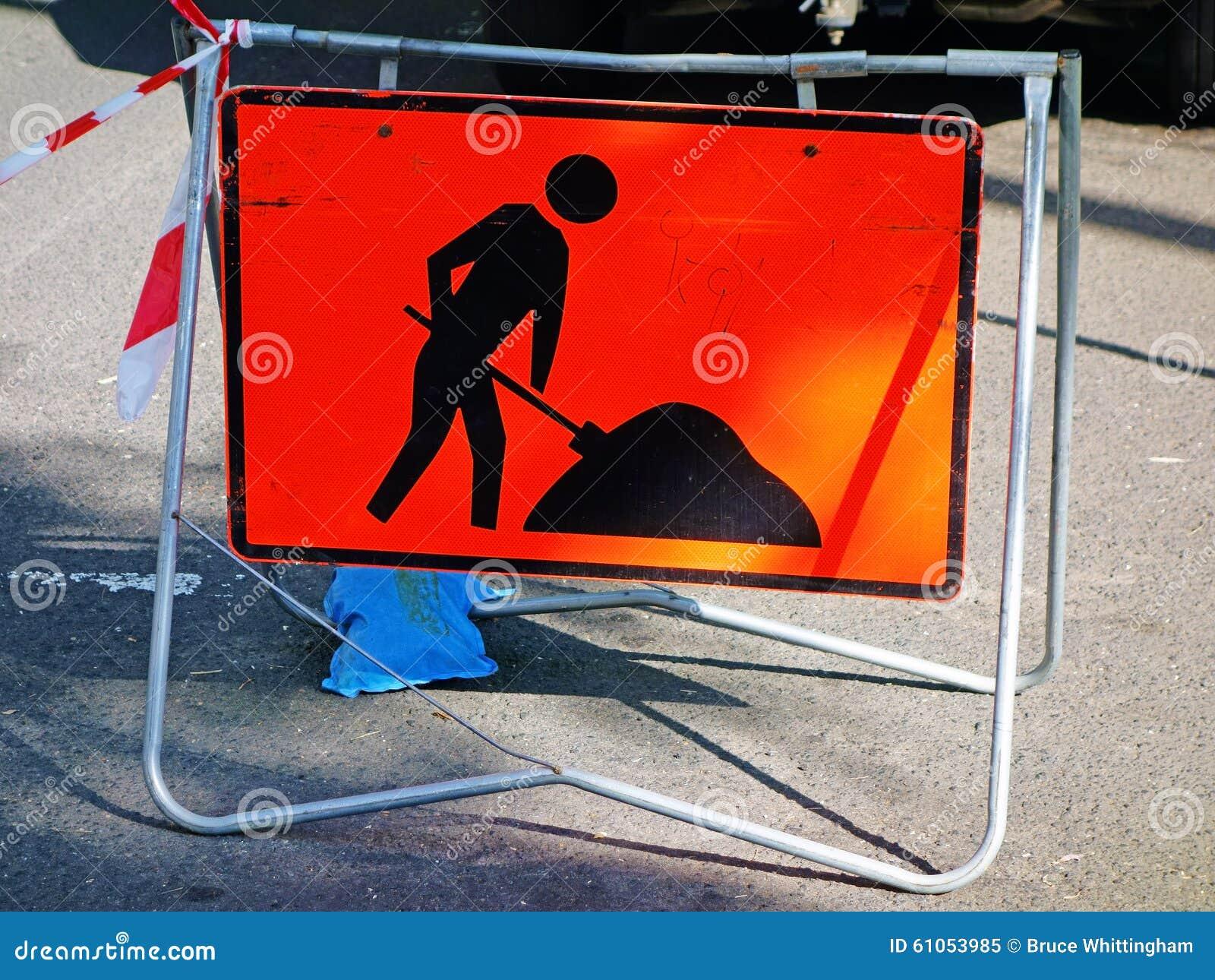 roadwork warning sign stock photo image 61053985
