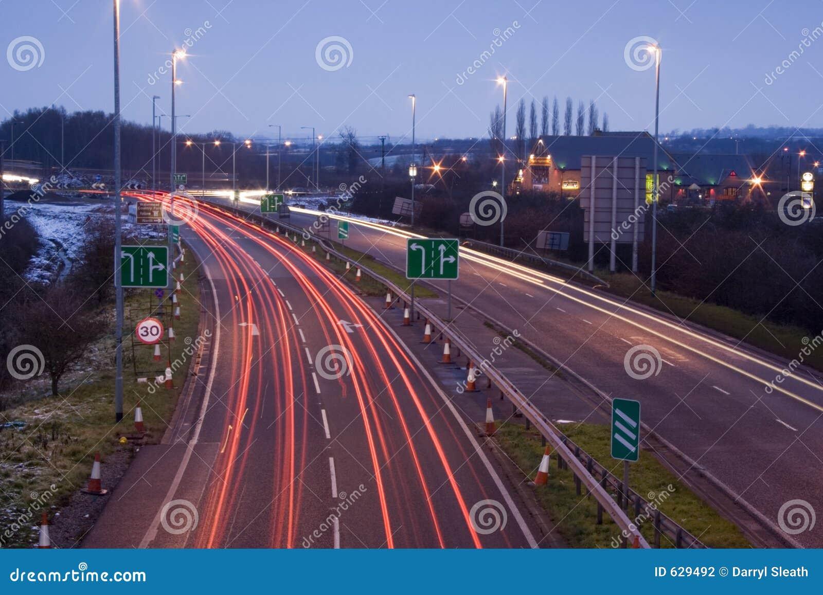 Download Roadworks brakelights стоковое фото. изображение насчитывающей roadworks - 629492