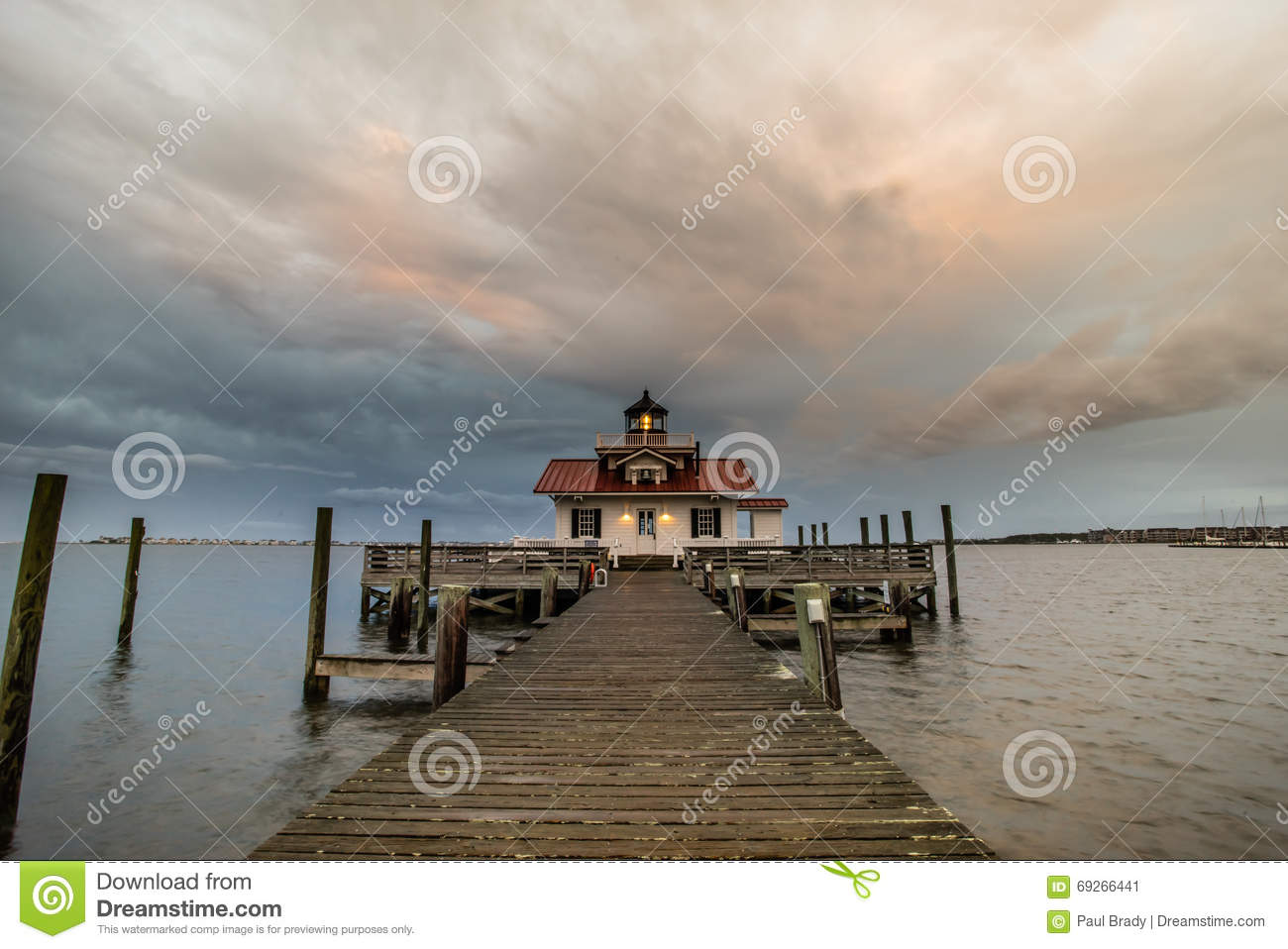 Roanoke Marshes Lighthouse in North Carolina