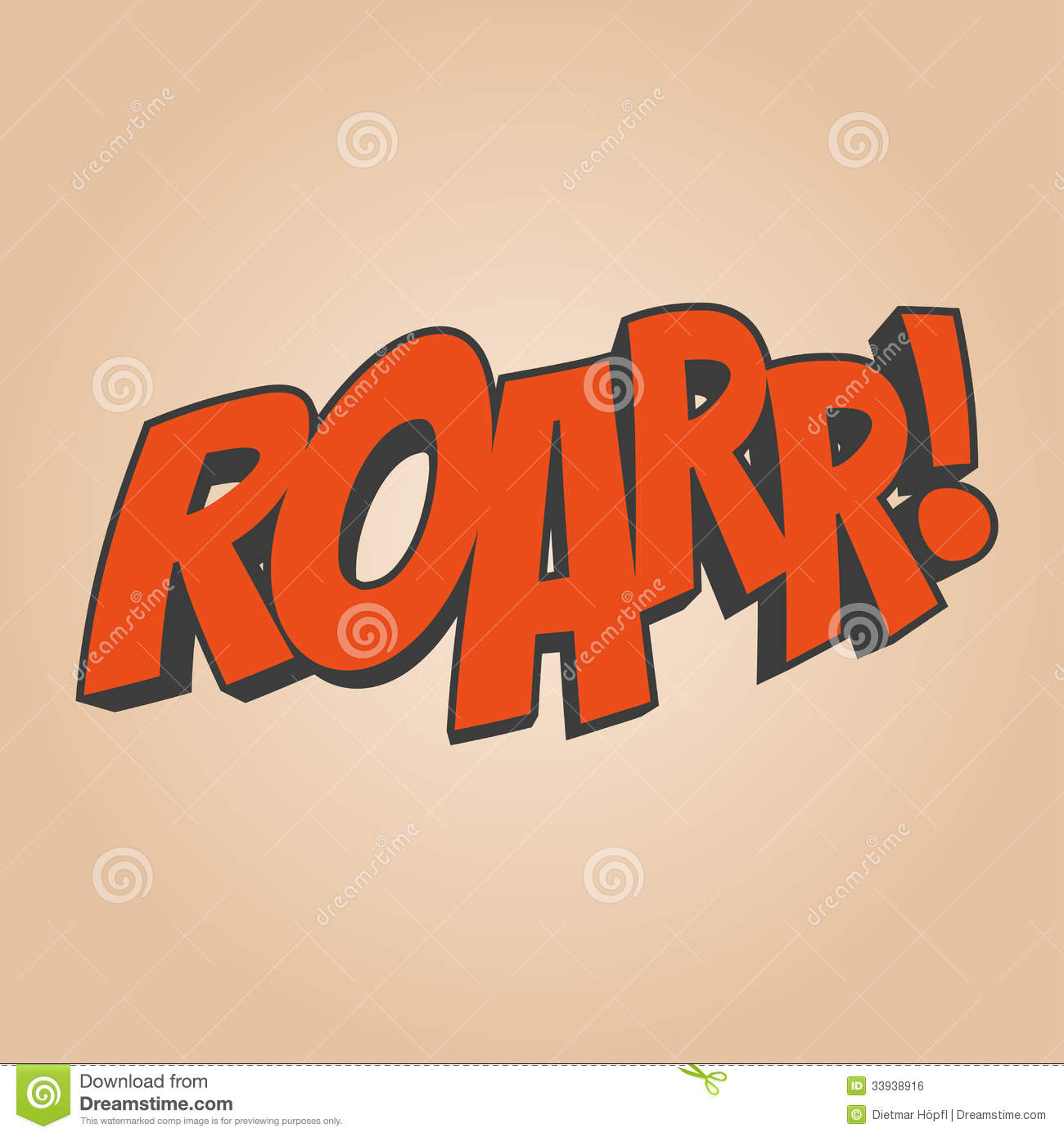 roar cartoon sound royalty free stock image   image 33938916