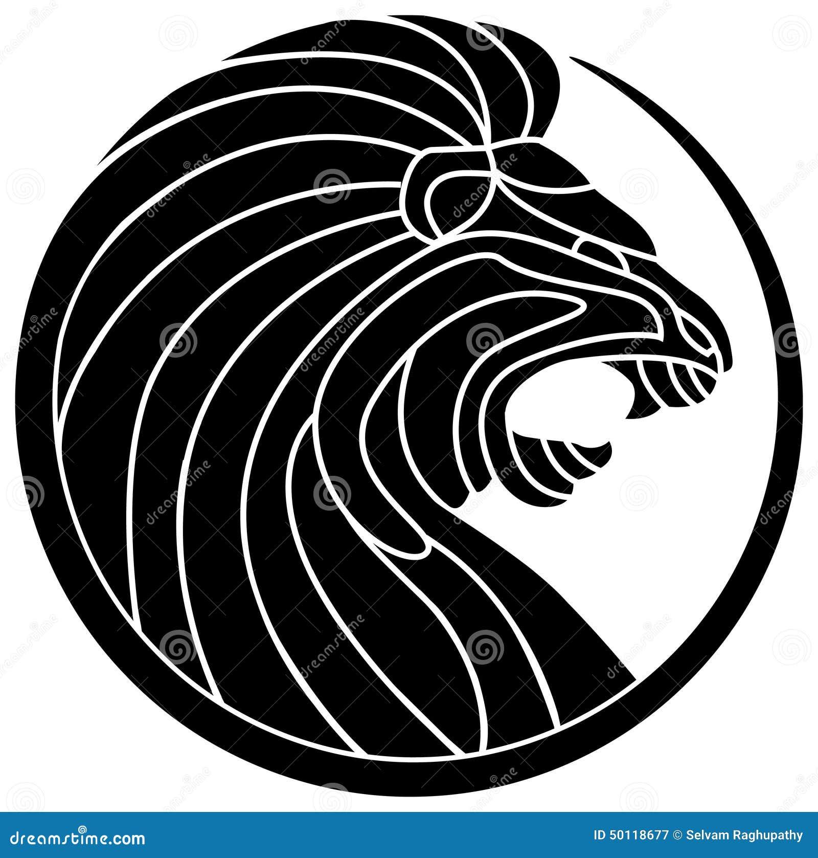Line Art Design Background : Roaring red lion logo