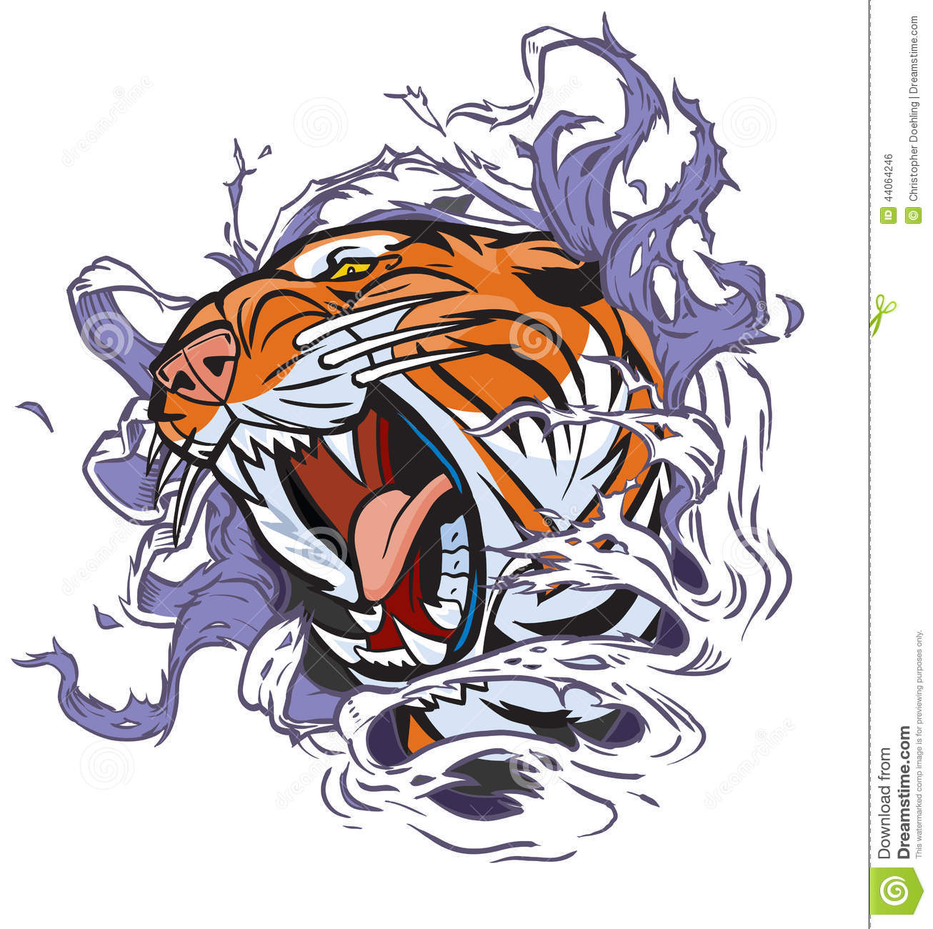 Tiger roar vector - photo#27