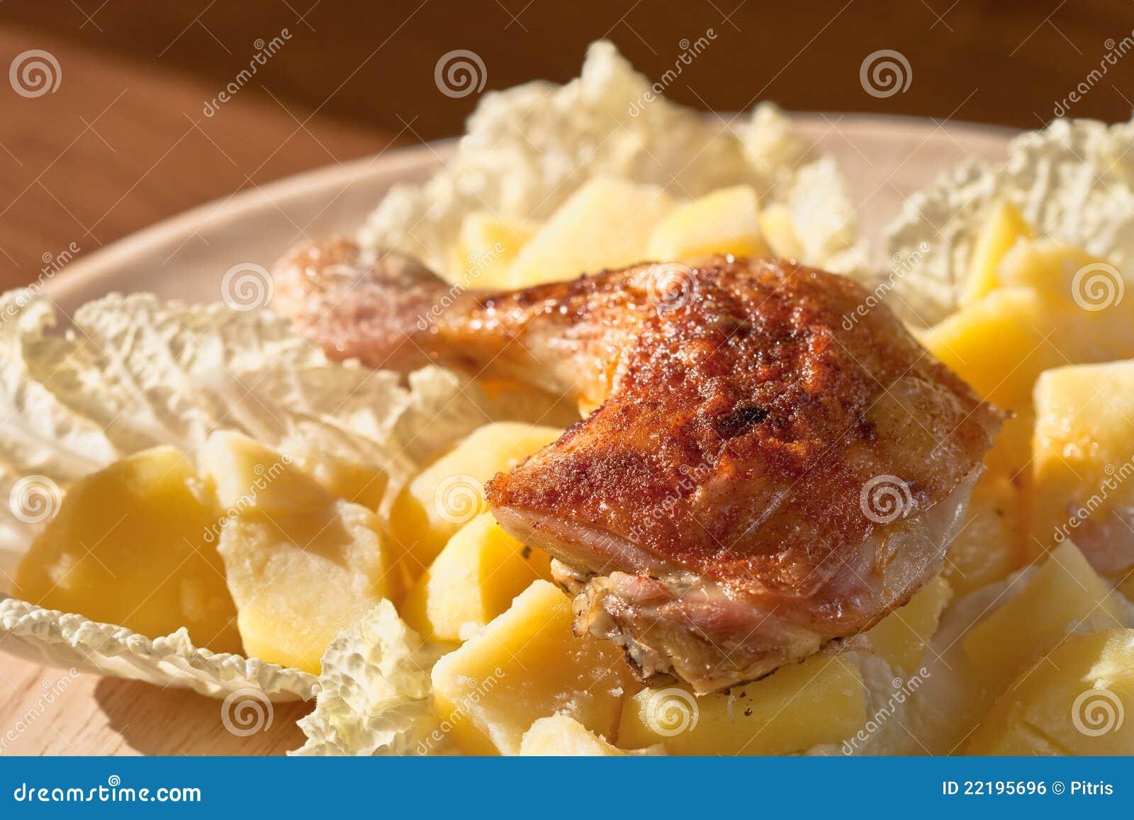Roast ποδιών κοτόπουλου