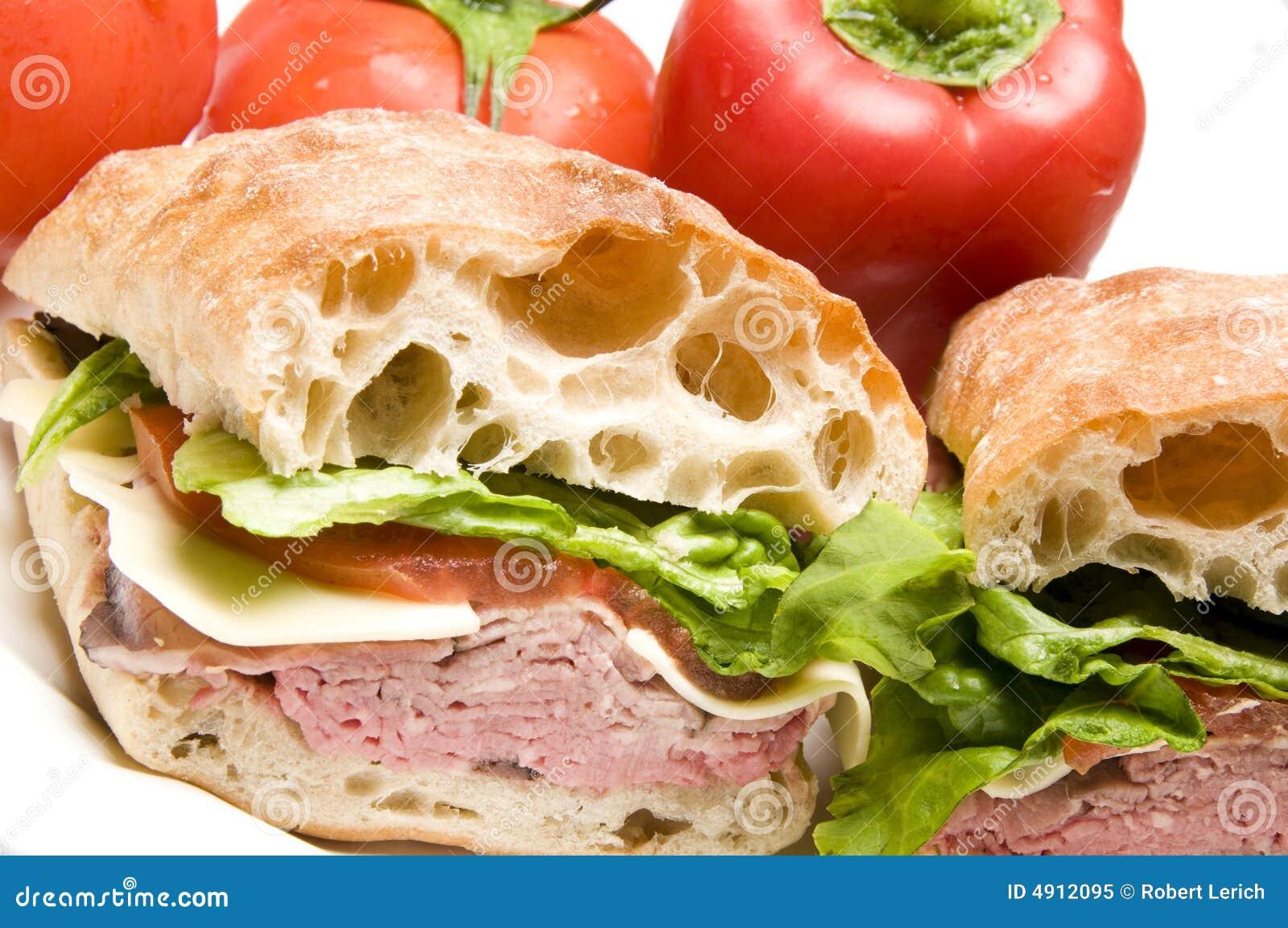 Salmon Salad Sandwiches On Ciabatta Recipe — Dishmaps