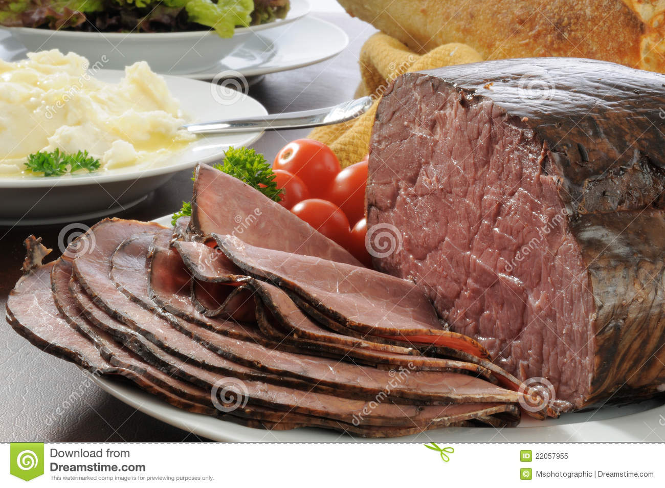 Roast Beef Dinner Royalty Free Stock Photo - Image: 22057955