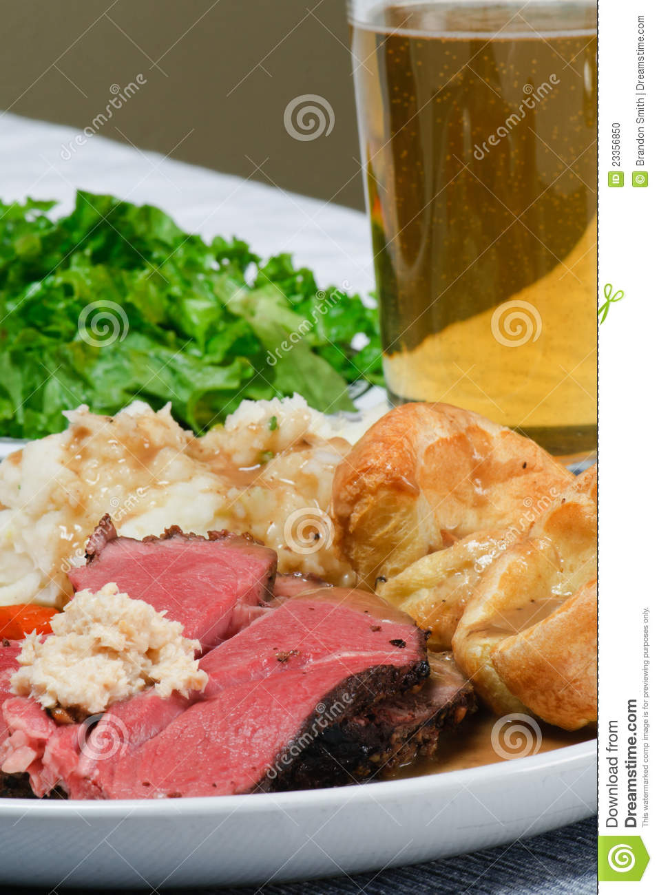 Roast Beef Dinner Stock Photo - Image: 23356850