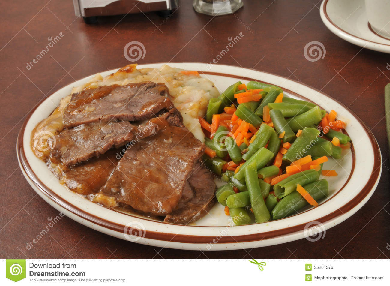 Roast Beef Dinner Royalty Free Stock Image - Image: 35261576