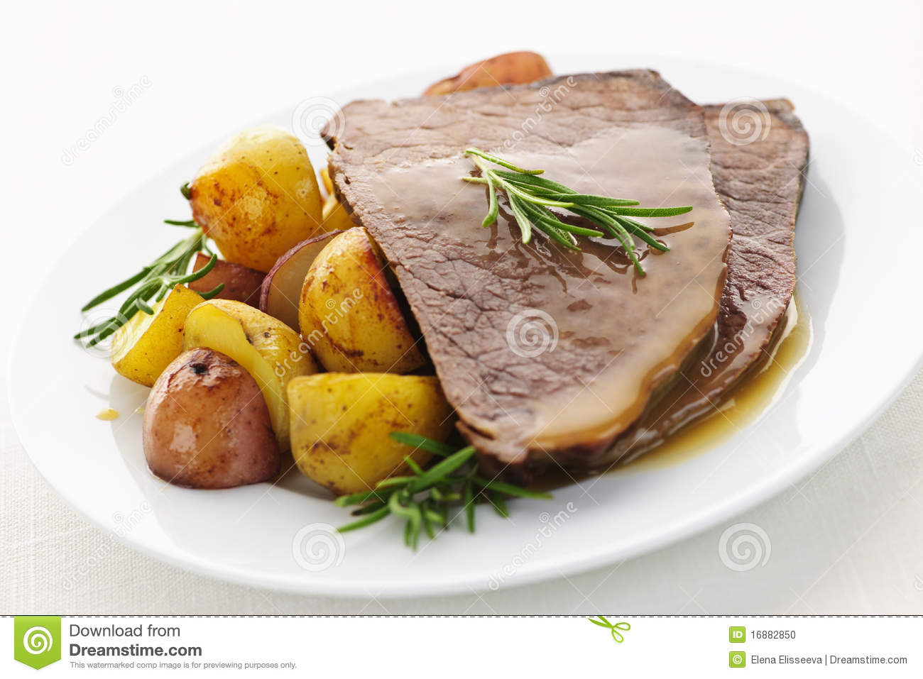 Roast Beef And Potatoes Stock Photo - Image: 16882850