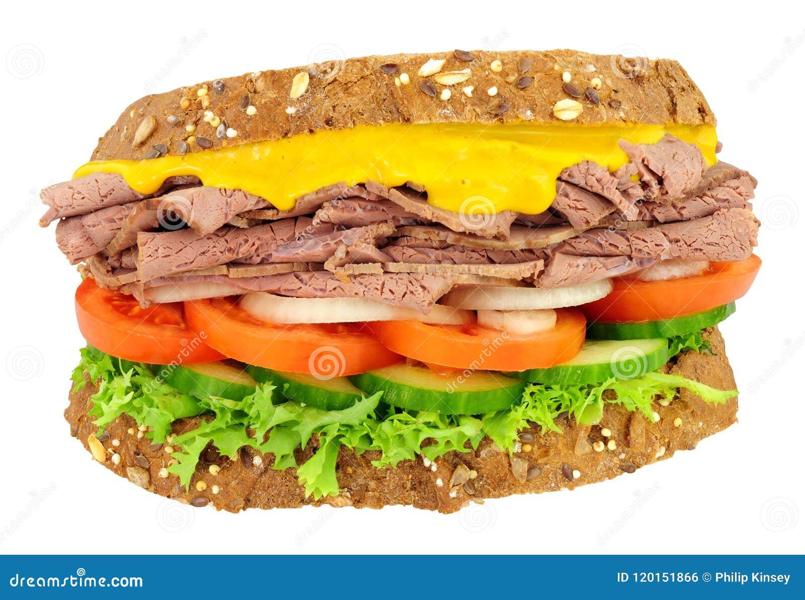 Roast Beef And Salad Sandwich