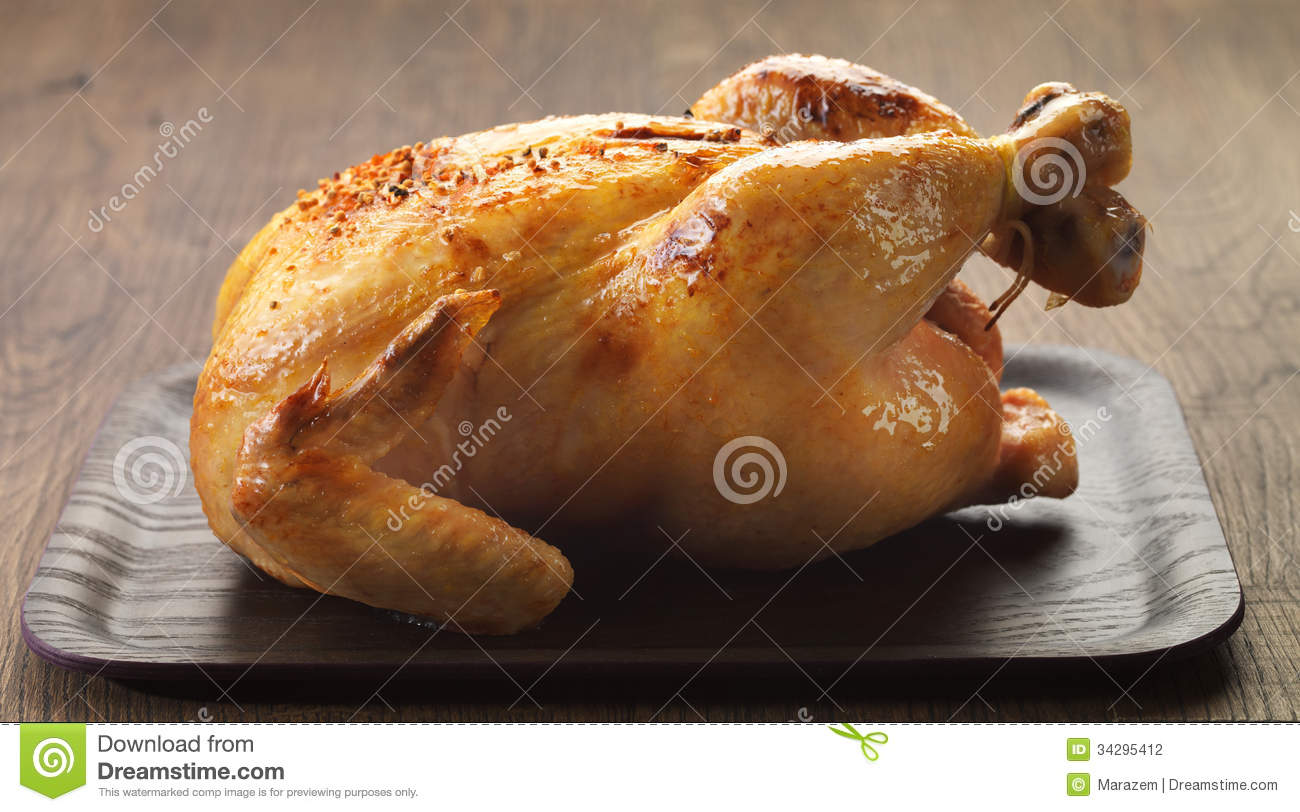Roast Chicken Stock Photography - Image: 34295412