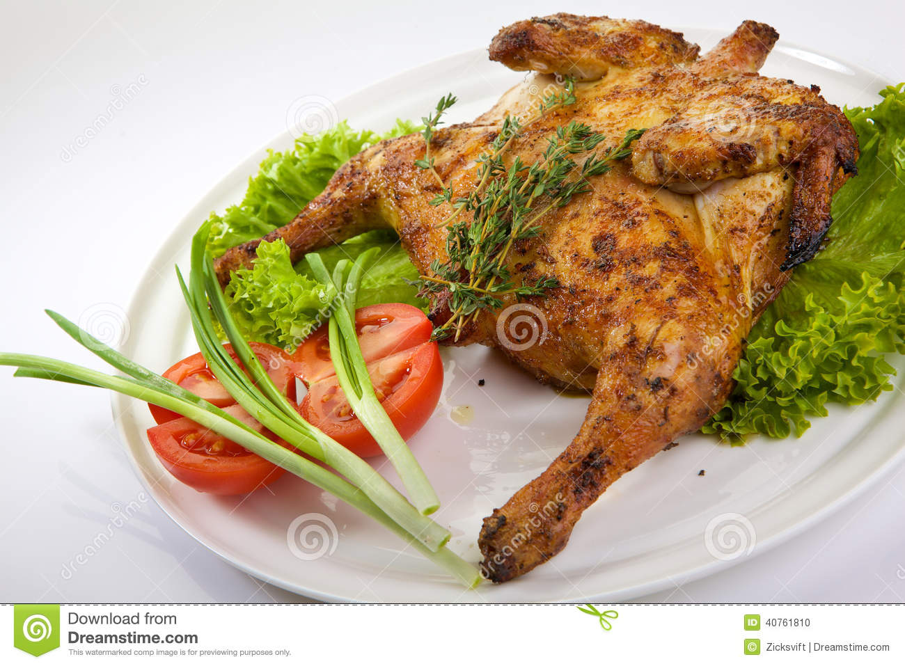 Roast Chicken Stock Photo - Image: 40761810