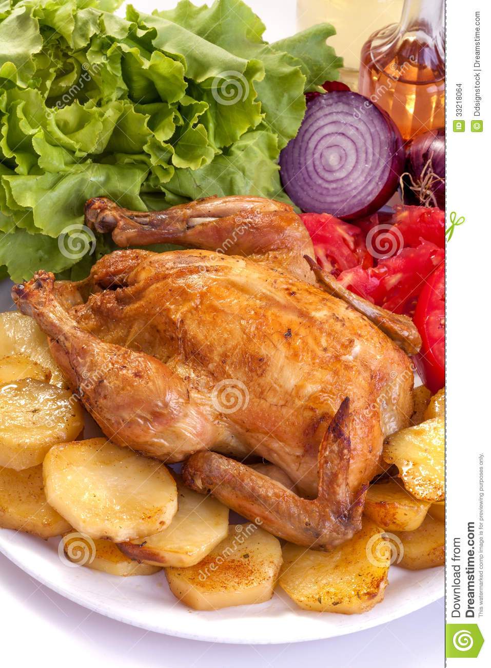 Roast Chicken Stock Images - Image: 33218064
