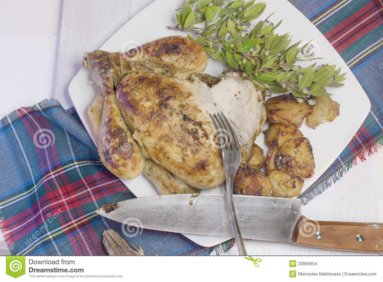 Roast Chicken Stock Images - Image: 33956654