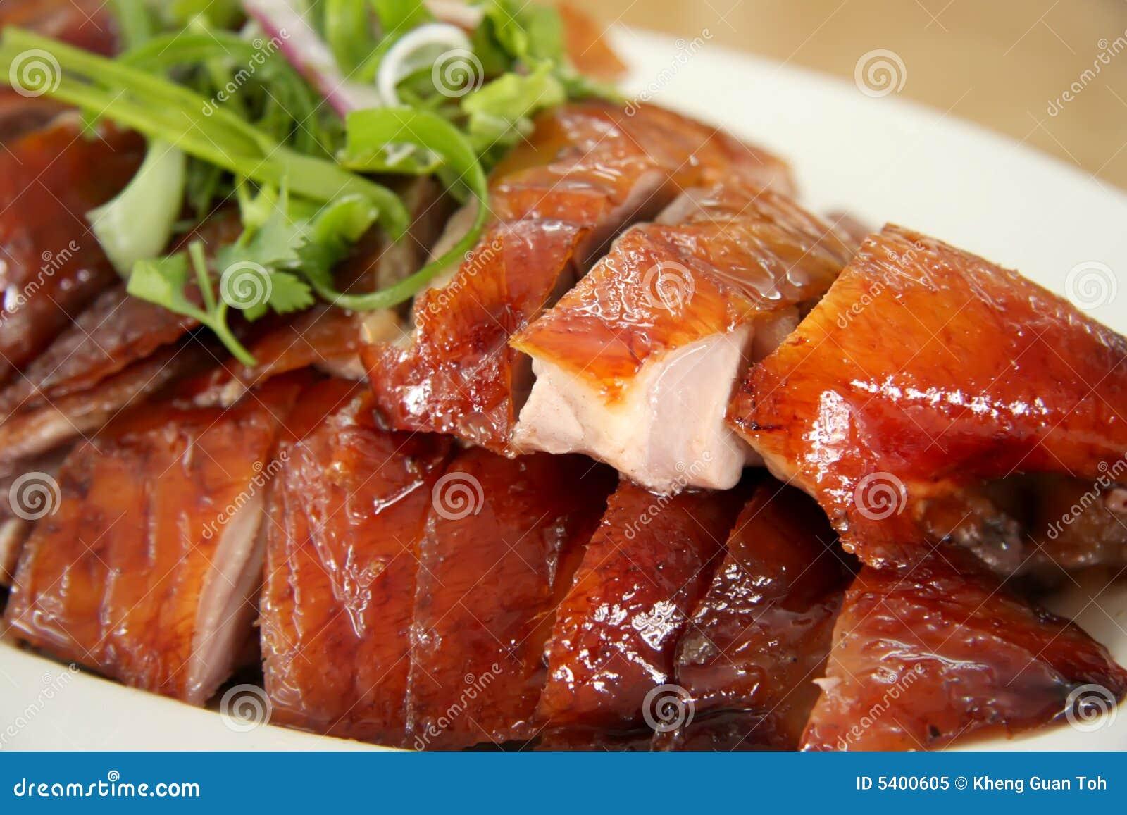 Roast duck slices