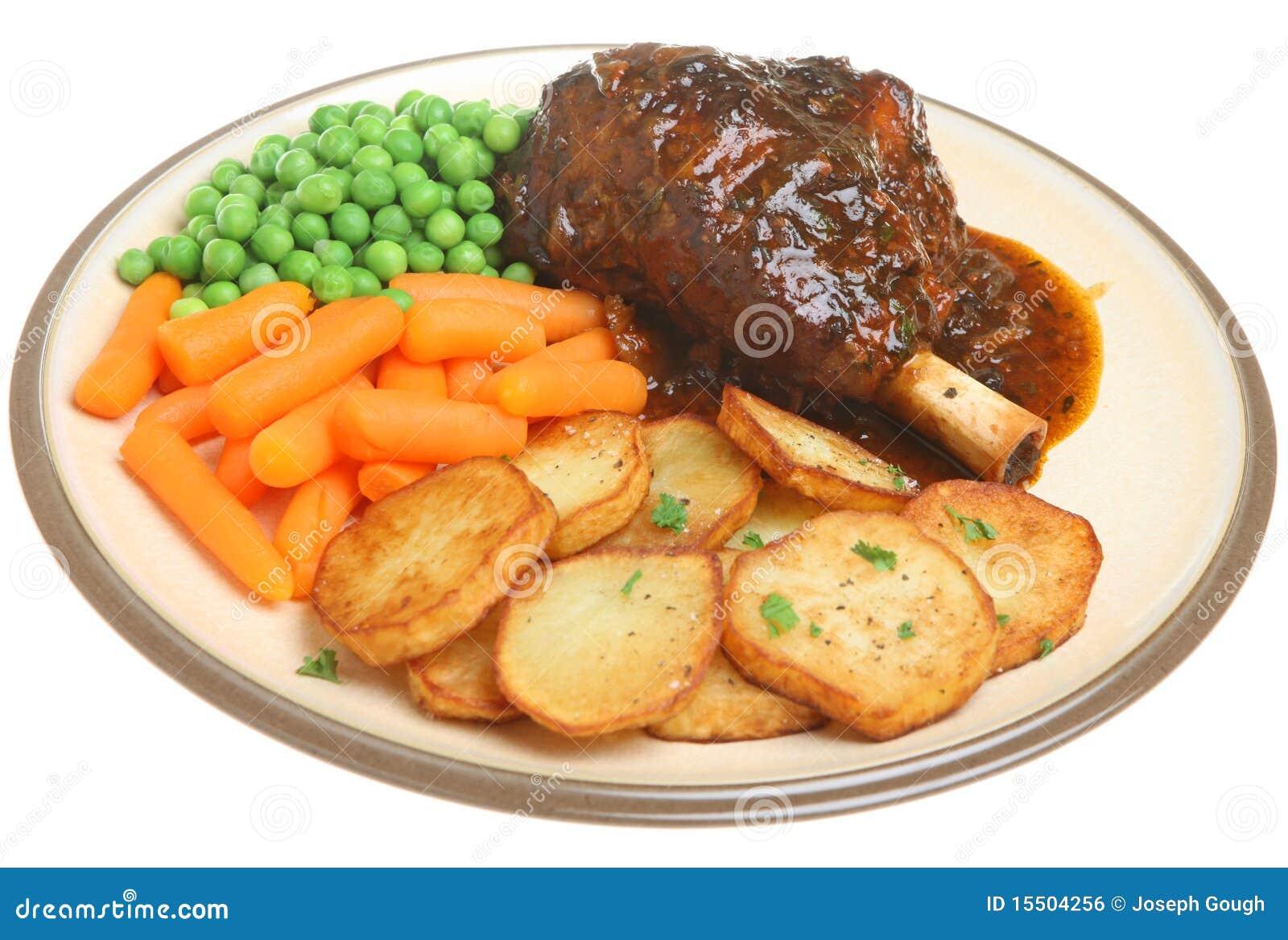 Roast Lamb Shank Dinner