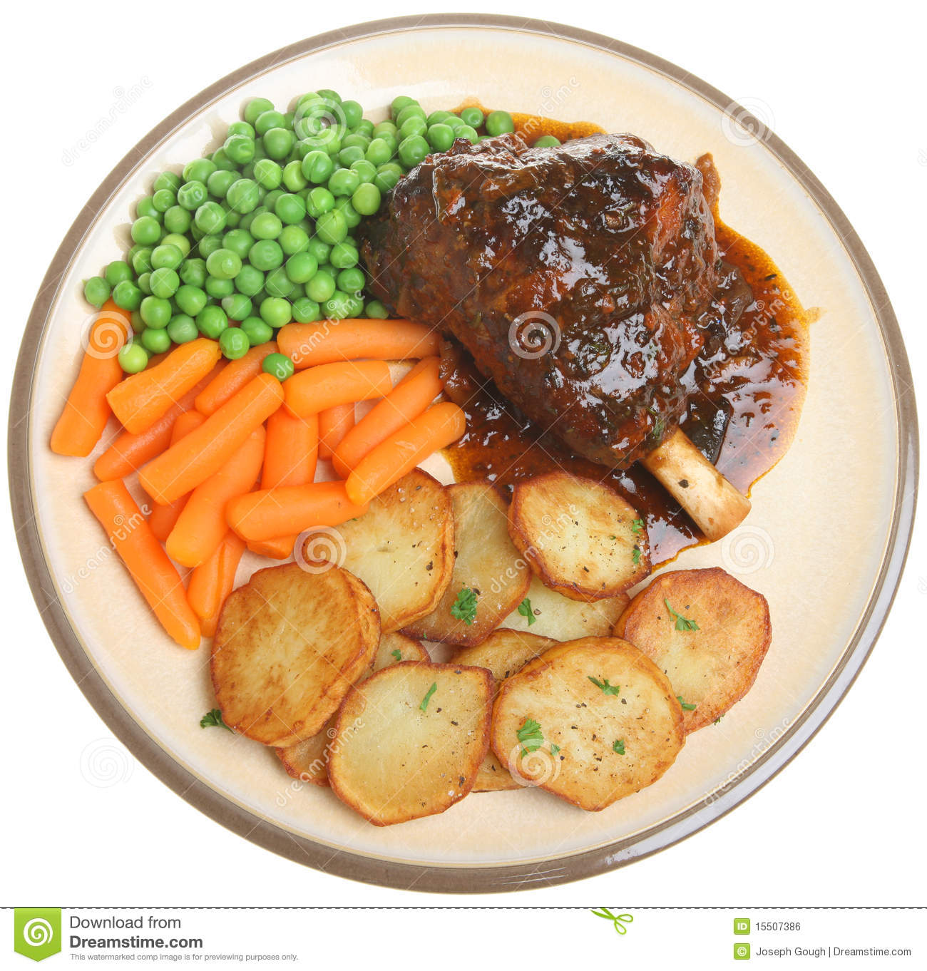 Roast Lamb Shank Dinner