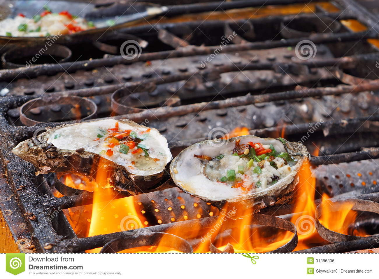 Roast Oyster Royalty Free Stock Image - Image: 31386806