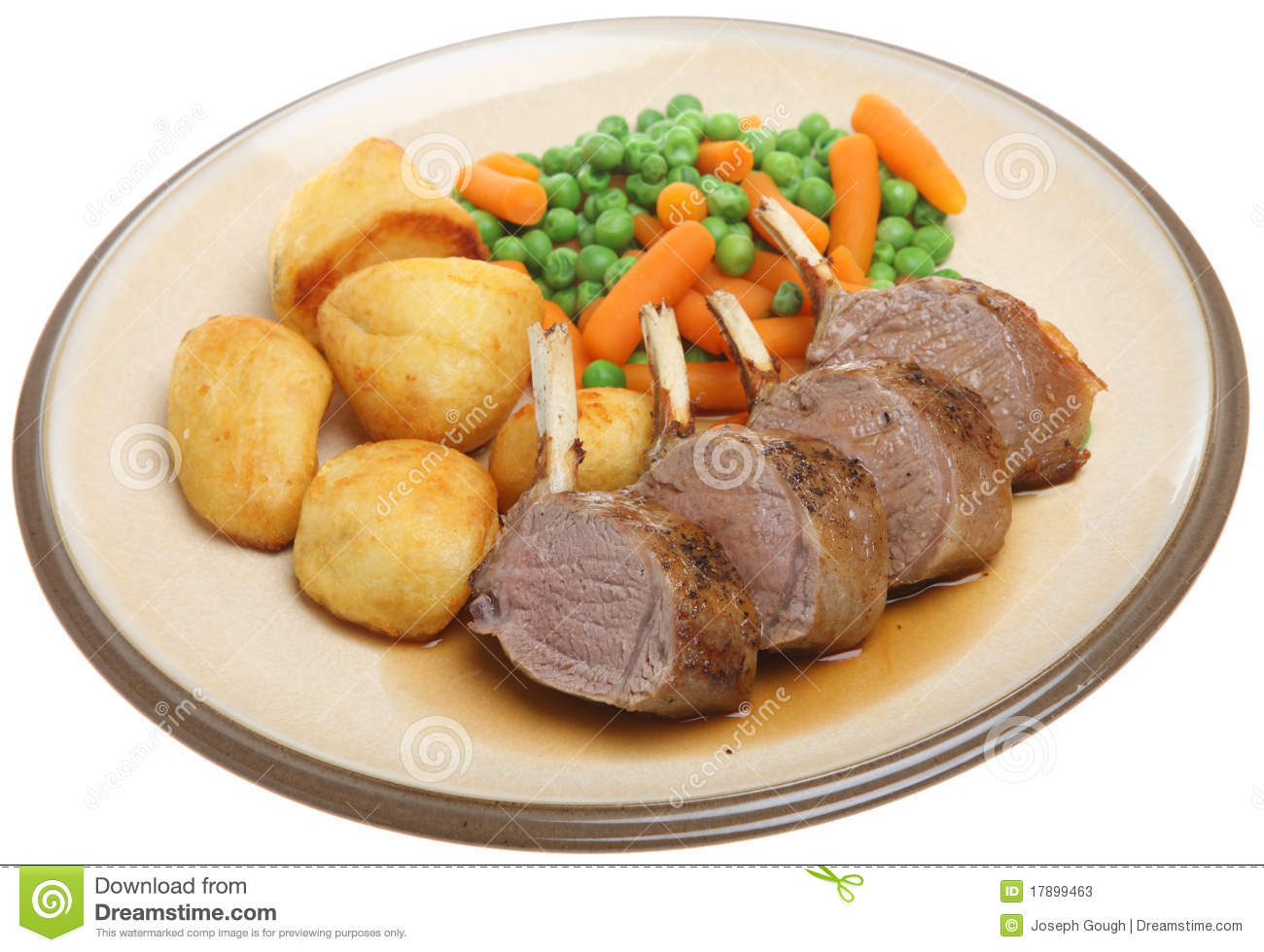 Roast Rack Of Lamb Dinner Stock Photos - Image: 17899463