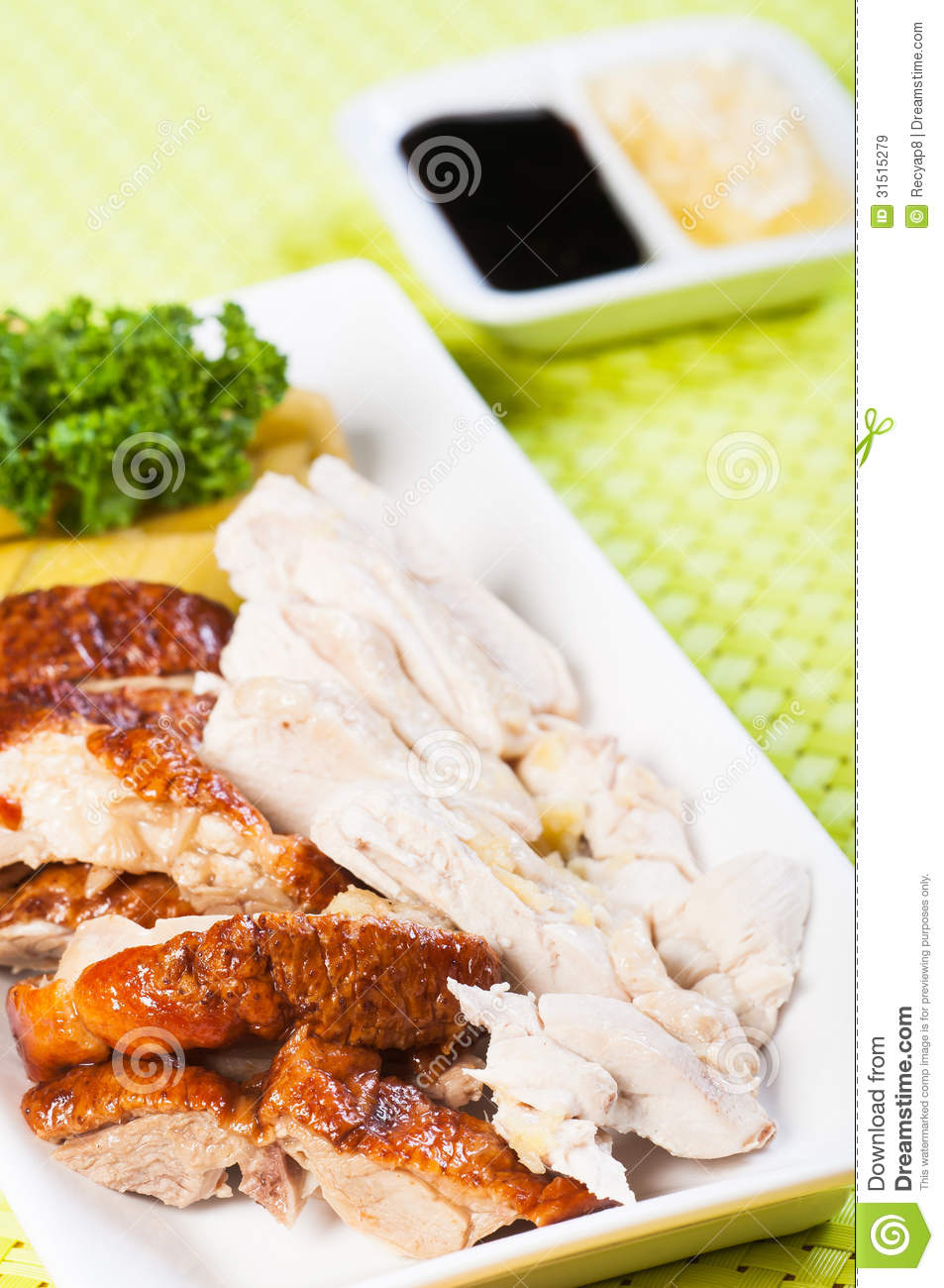 Roast and steamed chicken royalty free stock images for Authentic cuisine