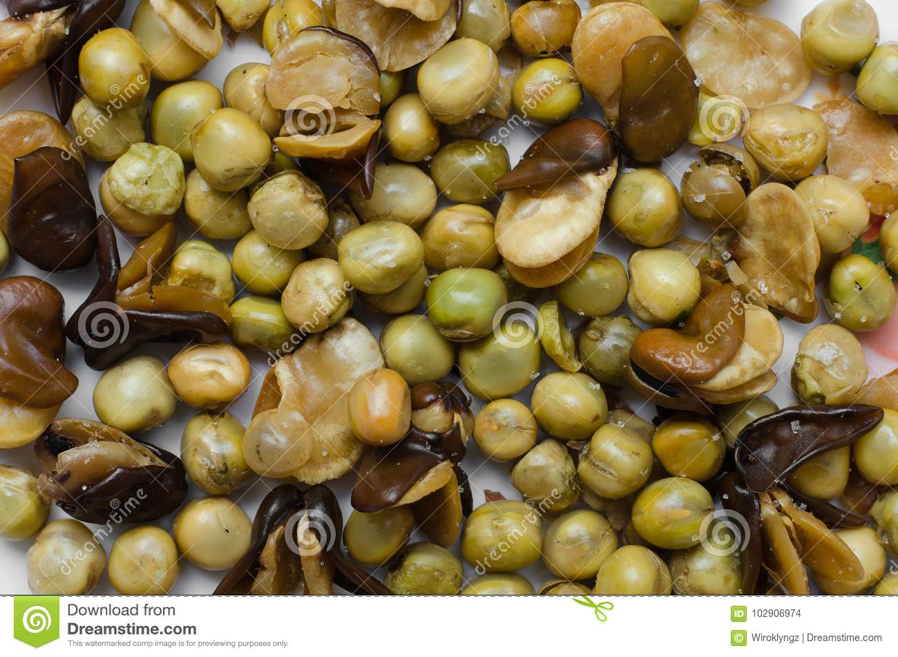 Roasted Broad Beans And Garden Peas. Stock Photo - Image of broad ...