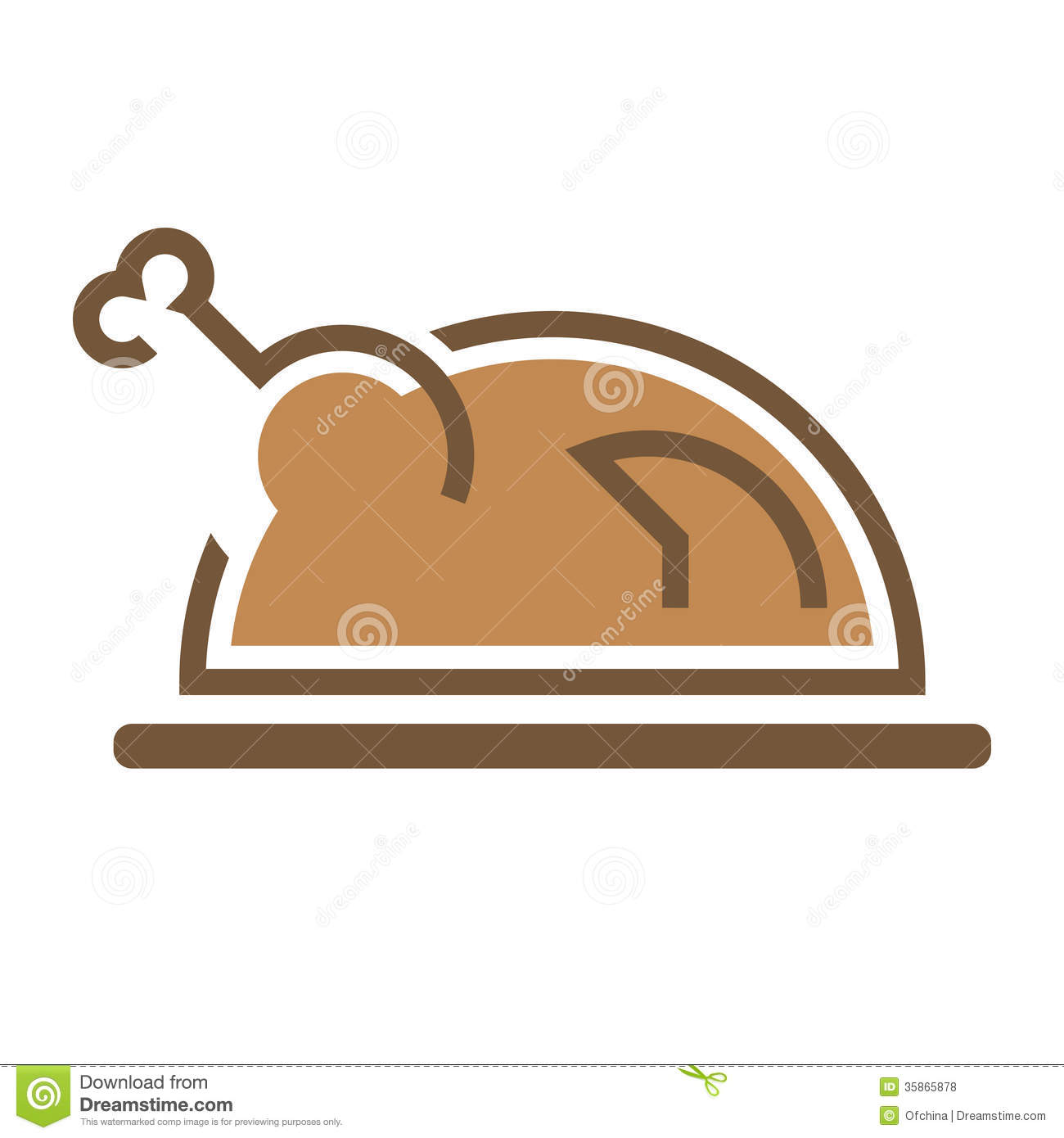 Roasted Chicken Stock Vector Illustration Of Cooking
