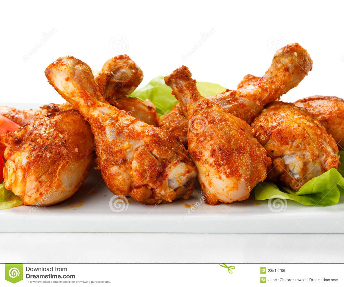 Roasted Chicken Drumsticks Royalty Free Stock Image - Image: 23514706