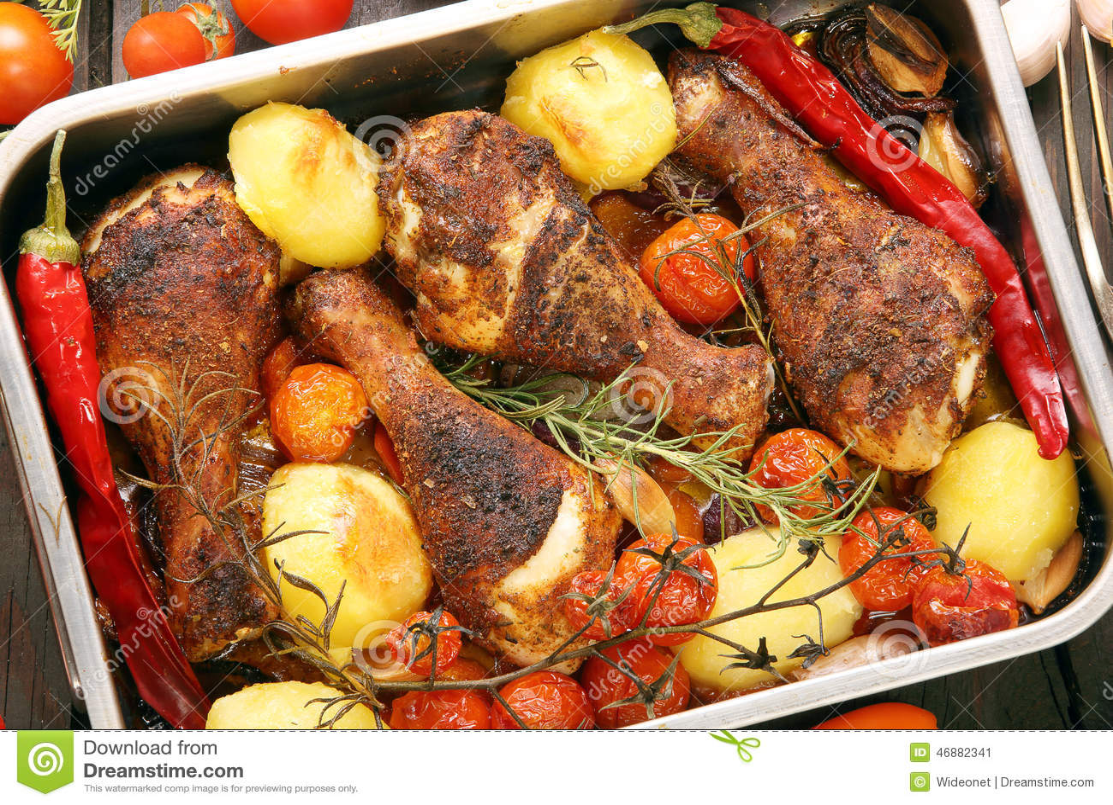 recipe: roasted drumsticks and vegetables [6]