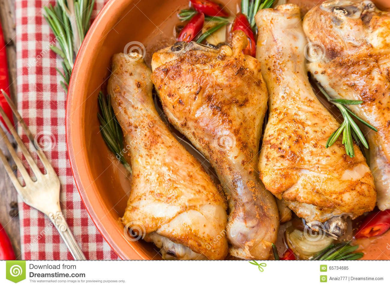 rosemary garlic chicken legs
