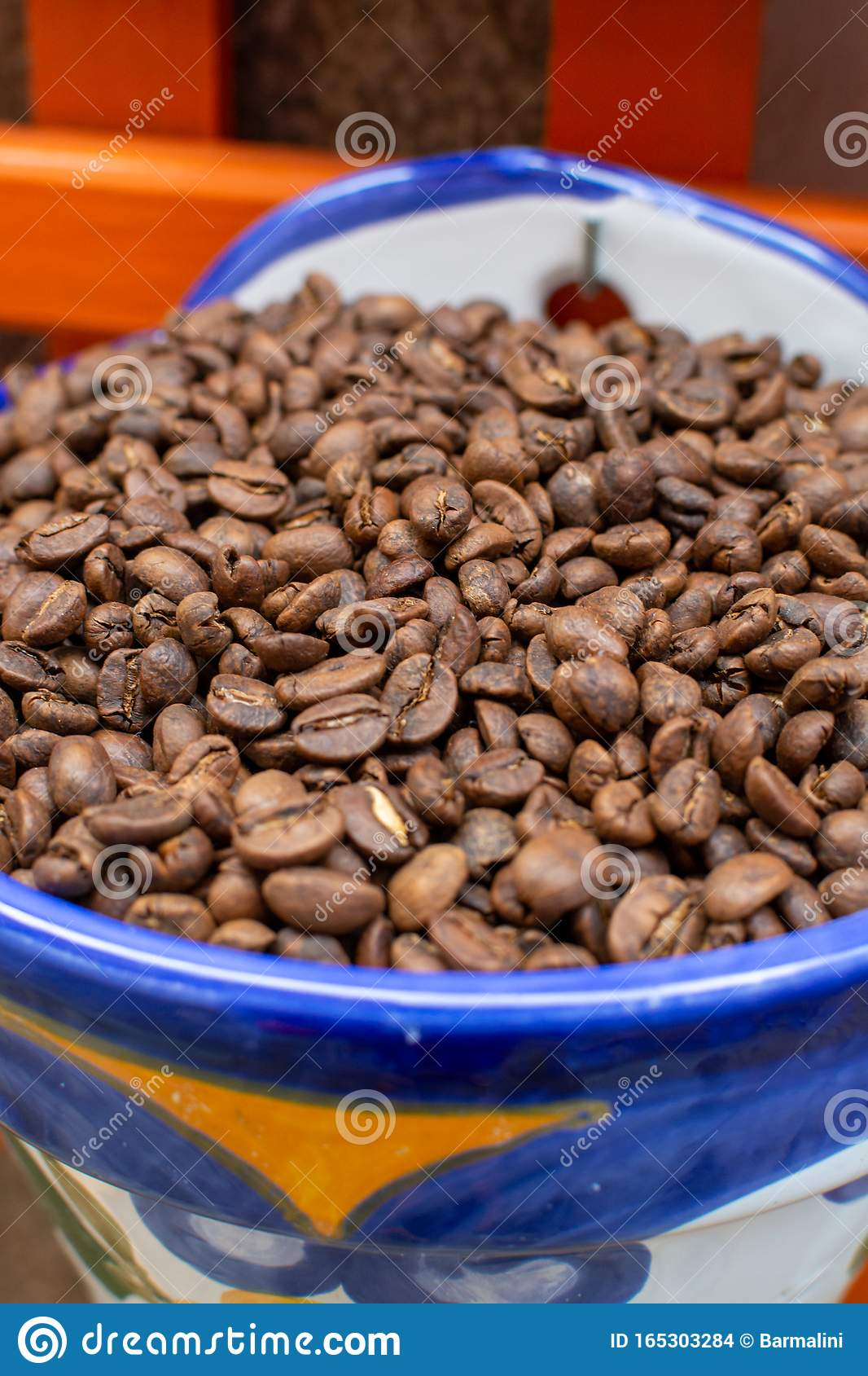 Roasted Decaf Coffee Beans Without Caffeine Stock Photo ...