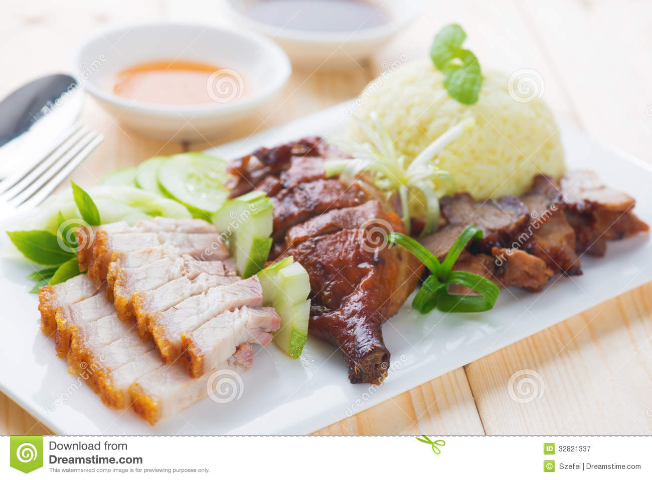 Roasted Duck Roasted Pork Crispy Siu Yuk And Charsiu  : roasted duck roasted pork crispy siu yuk charsiu chinese st style served steamed rice dining table malaysia cuisine 32821337 from www.dreamstime.com size 1300 x 958 jpeg 127kB