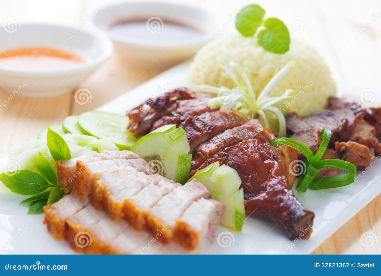 Roasted Duck, Roasted Pork Crispy Siu Yuk And Charsiu ...