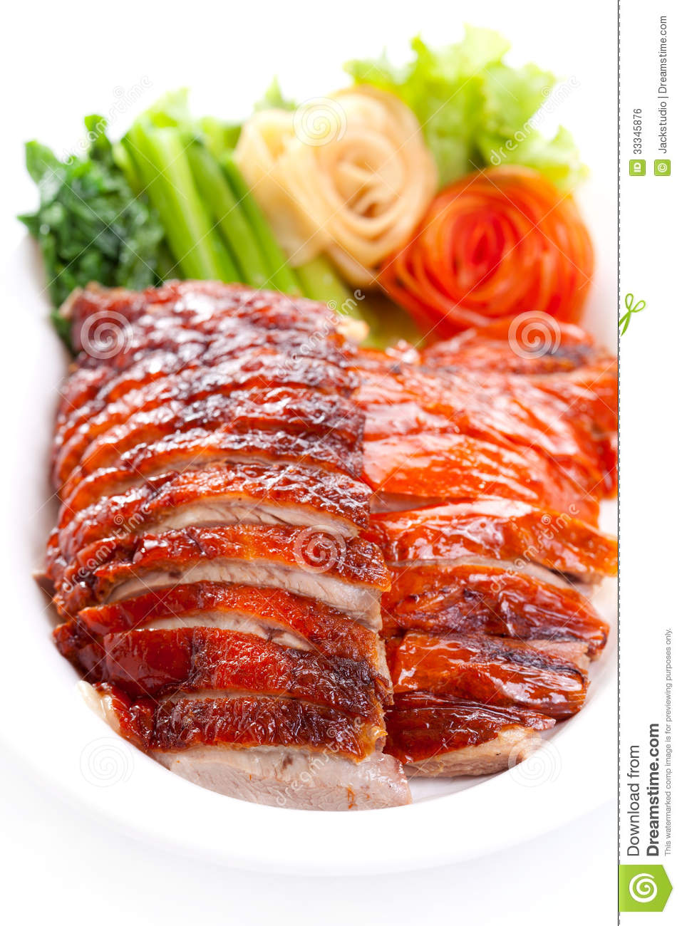 Roasted Duck And Vegetables Royalty Free Stock Image - Image: 33345876