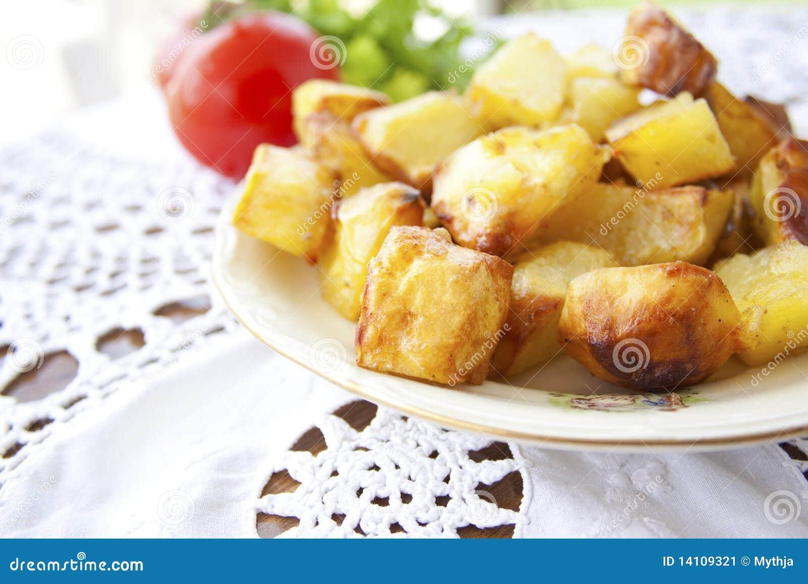 Roasted golden potatoes