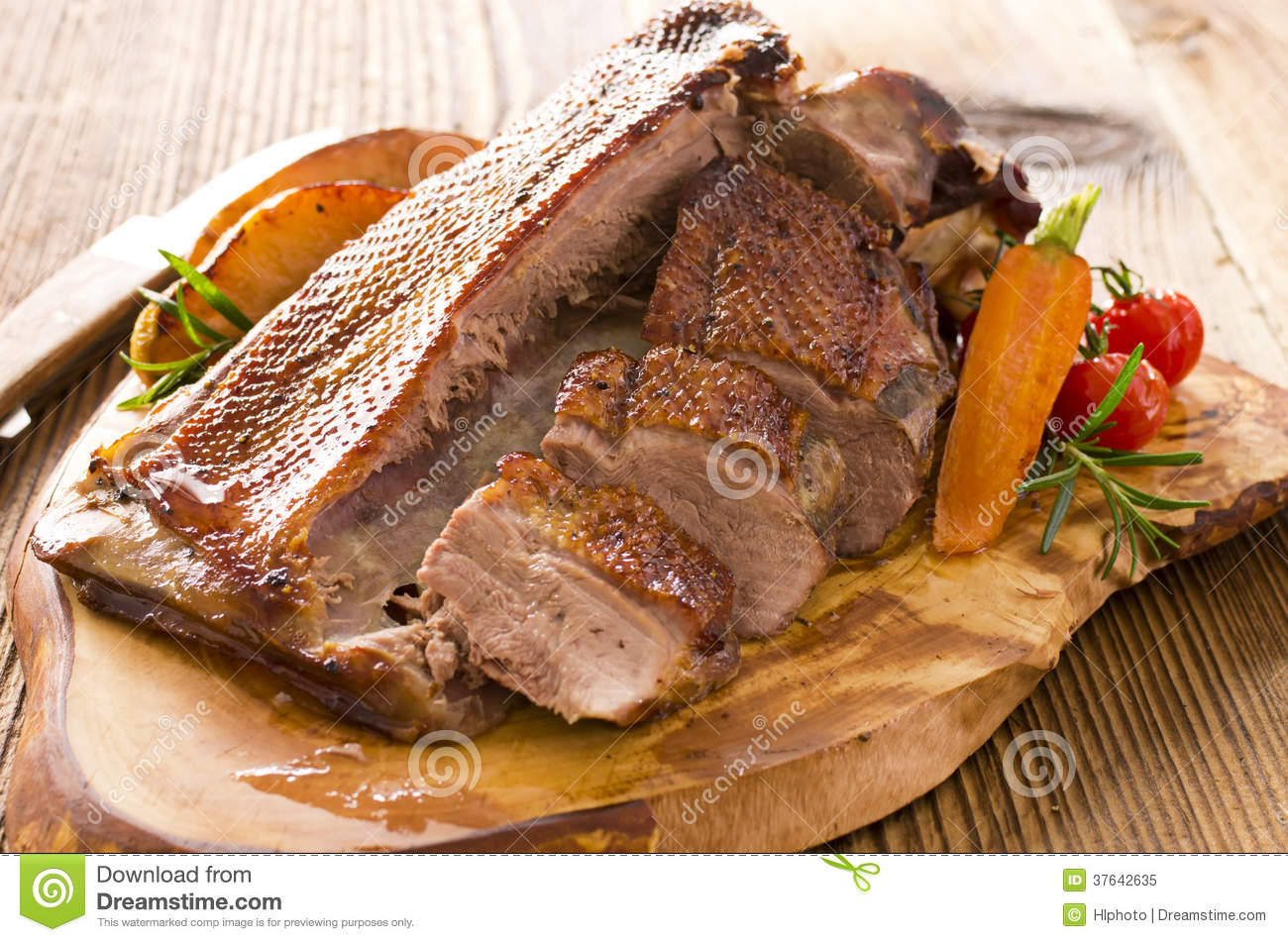Roasted Goose Breast Fillet Royalty Free Stock Photo - Image: 37642635