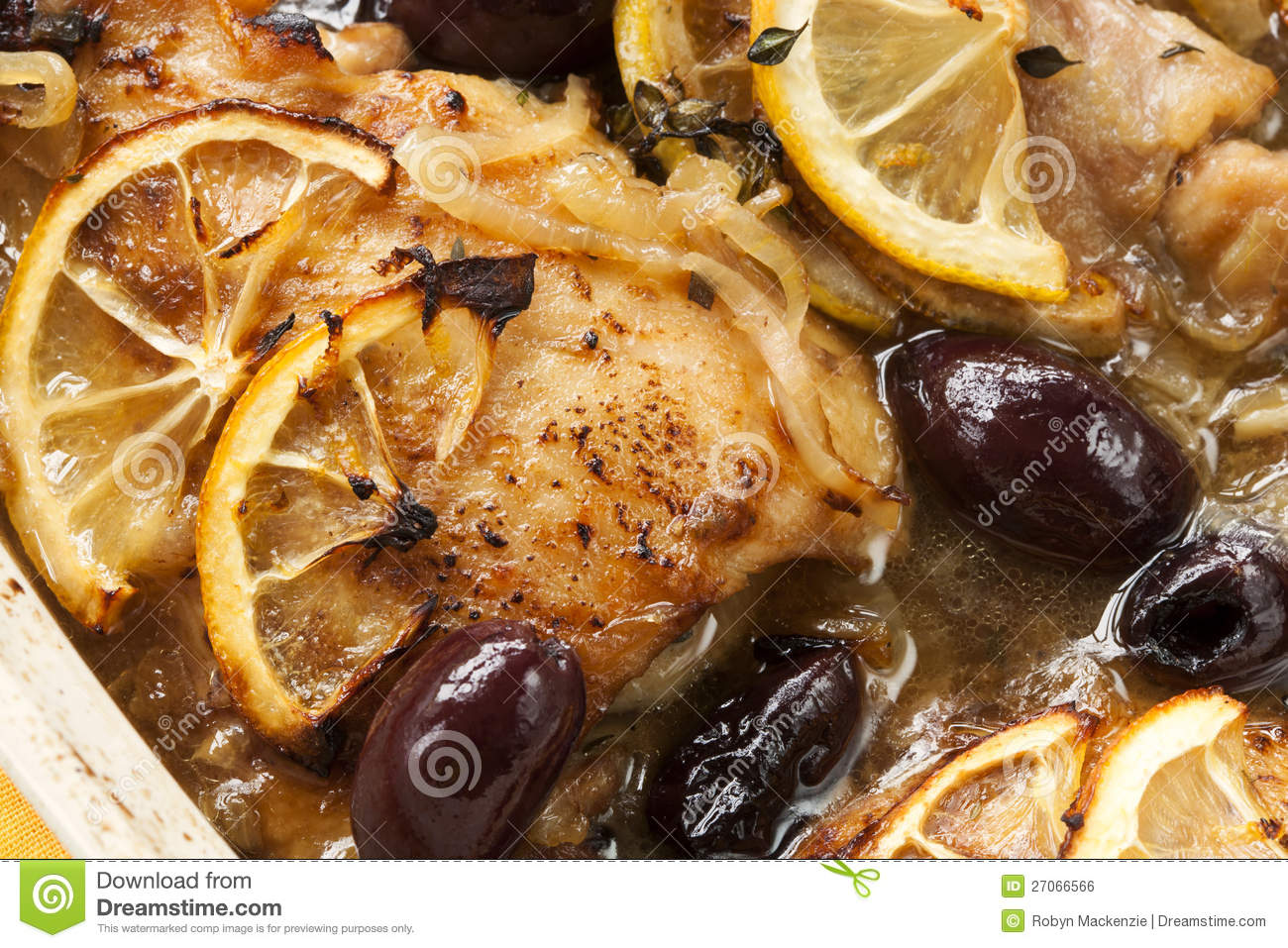 Roasted Lemon Chicken Royalty Free Stock Image - Image: 27066566