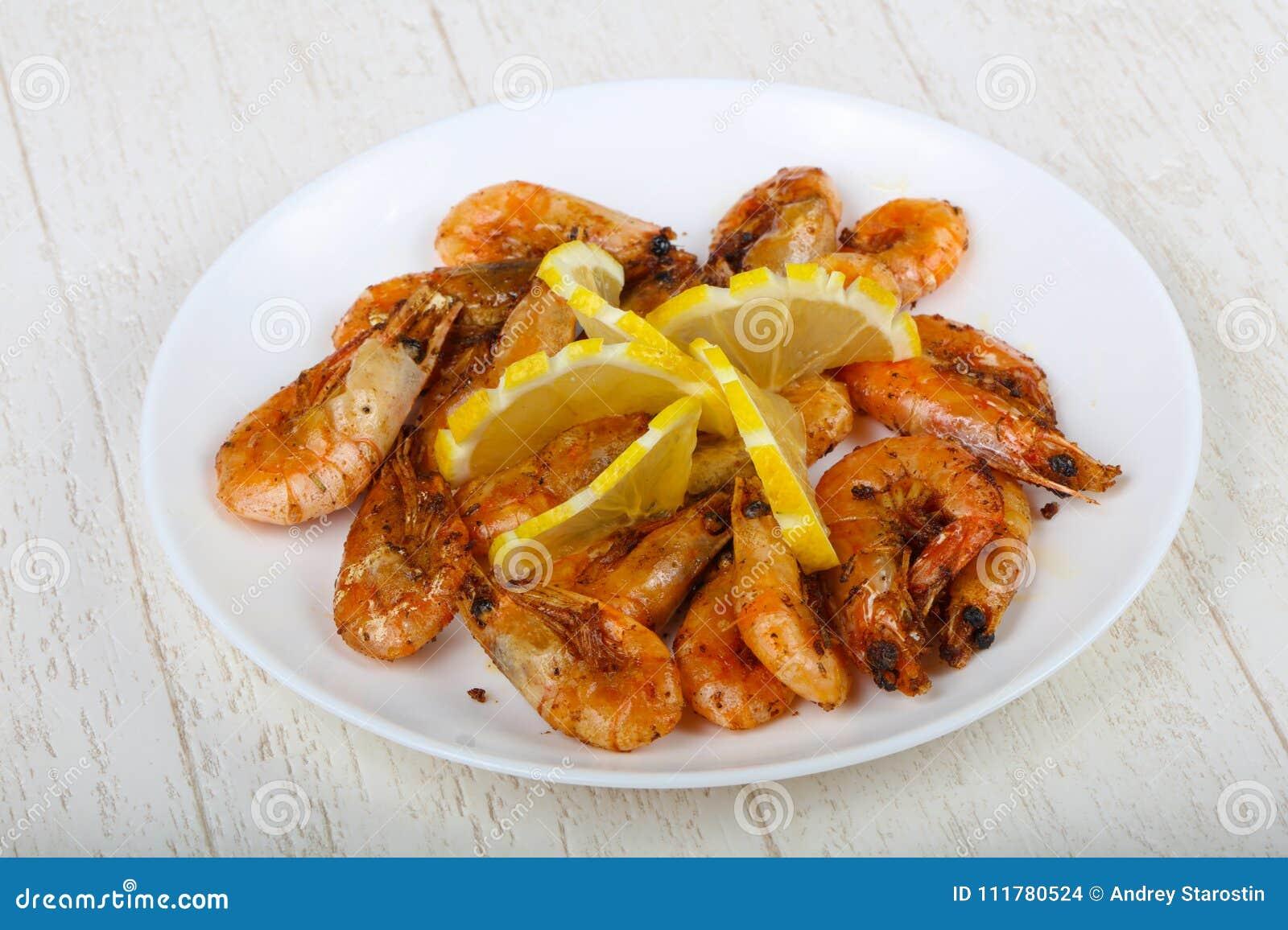 Roasted shrimps