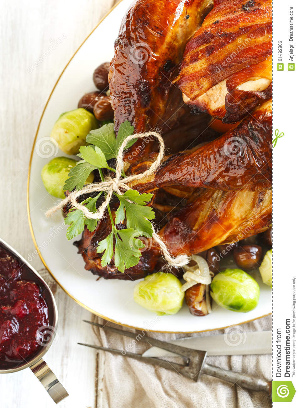 Roasted Brussels Sprouts With Bacon And Chestnuts Recipe — Dishmaps