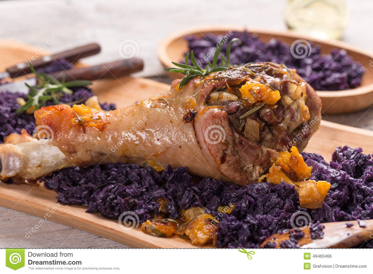 Roasted Turkey Drumstic Stock Photo - Image: 49460466
