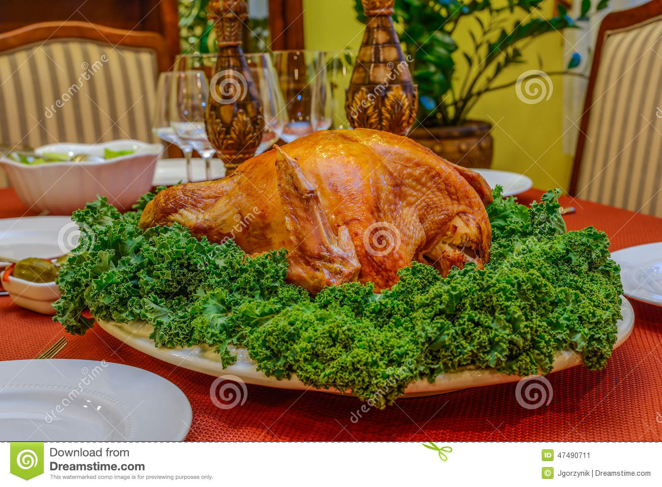 Roasted turkey & Roasted turkey stock image. Image of meal baked herbs - 47490711