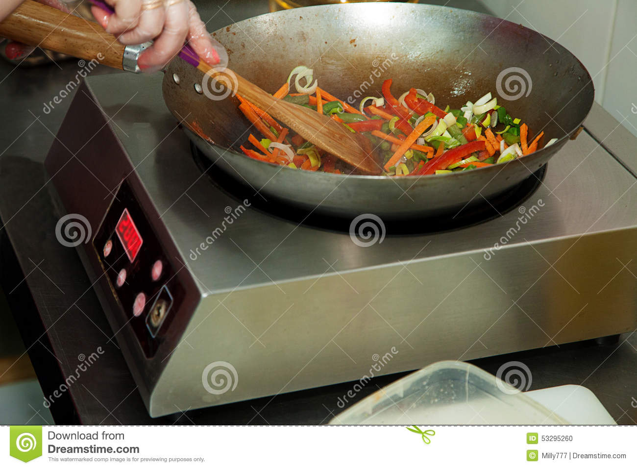 roasting vegetables on a frying pan stock photo image of carrots