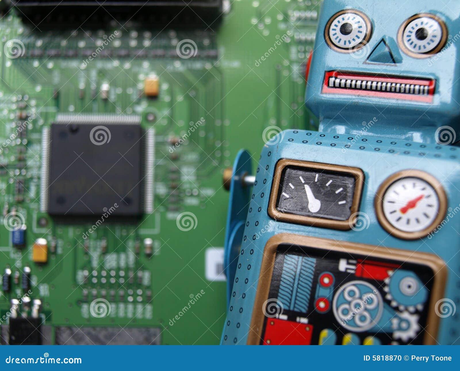 Circuito Aberto : Robô com circuito aberto foto de stock. imagem de cubo 5818870