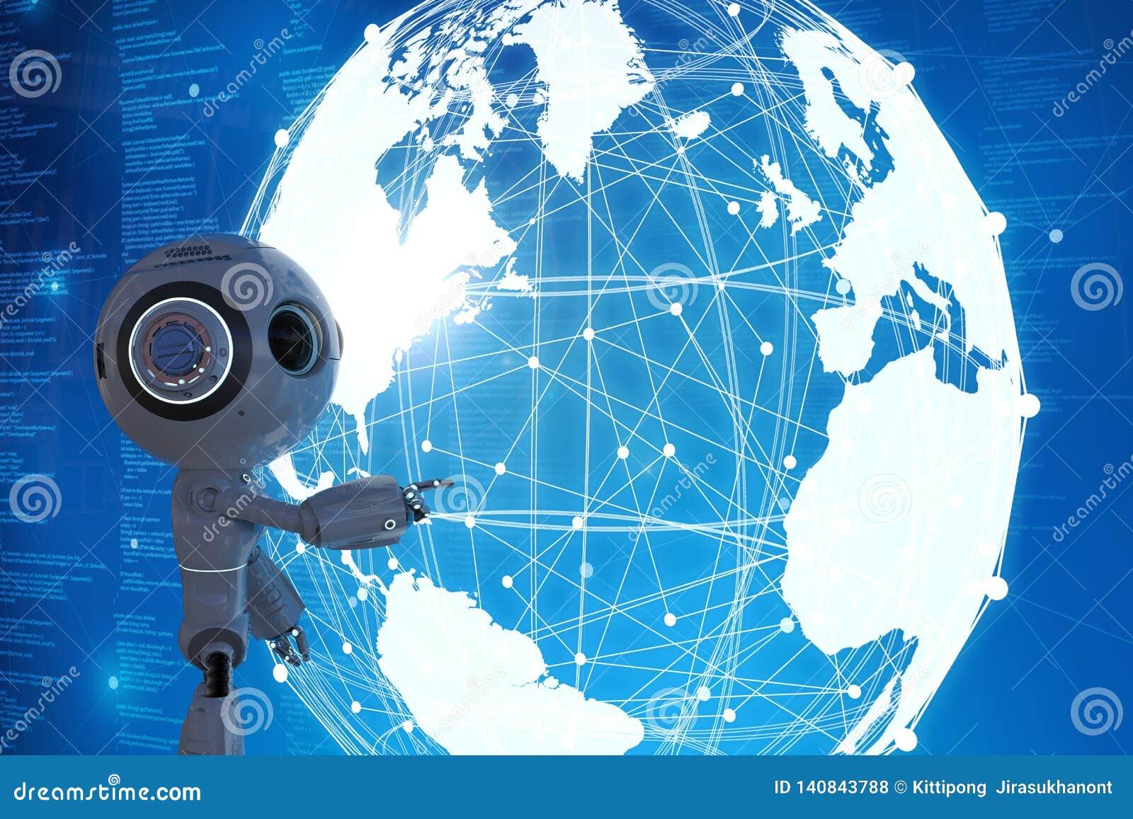 Robô com conexão global