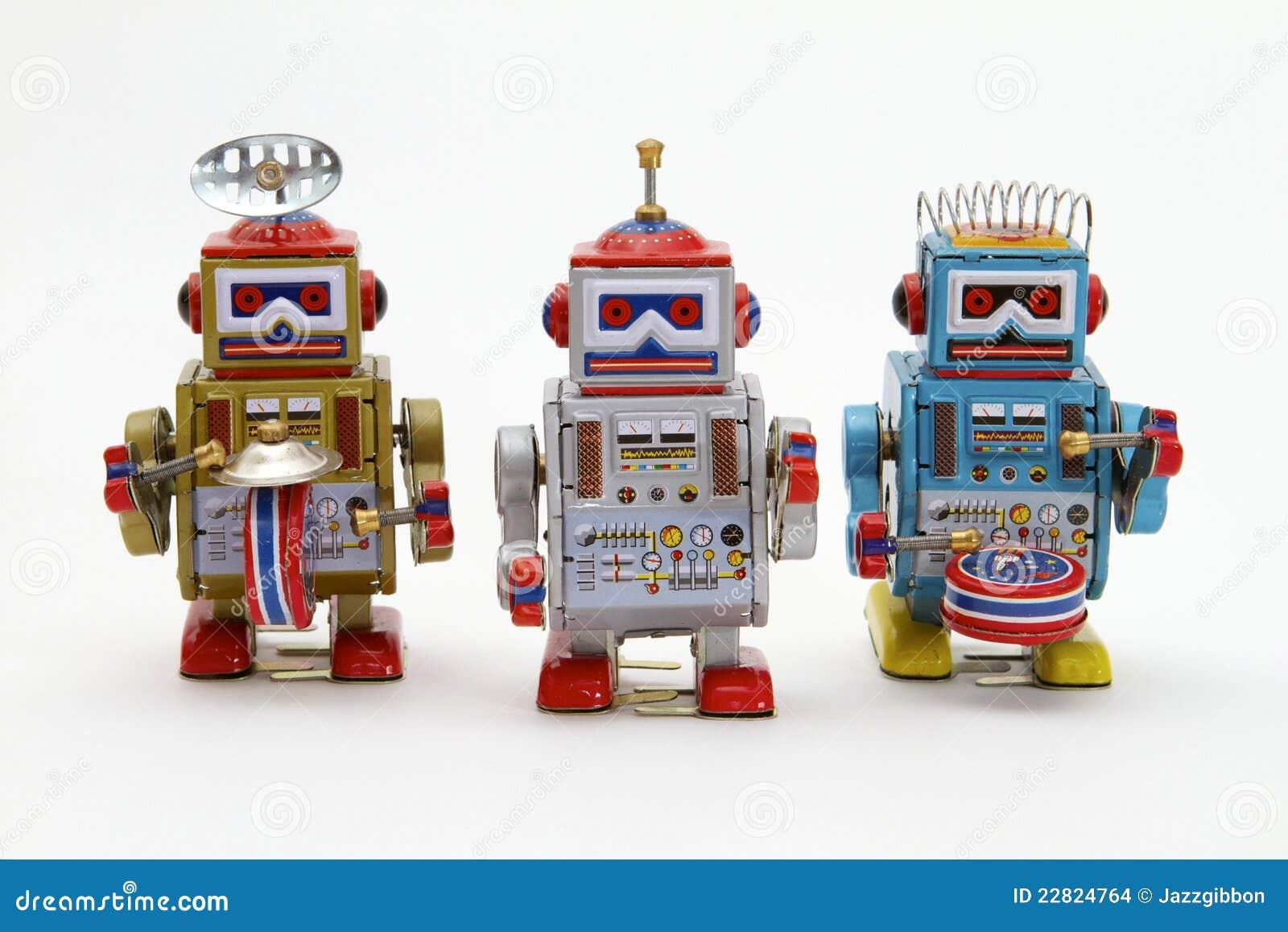 Robôs do brinquedo do estanho