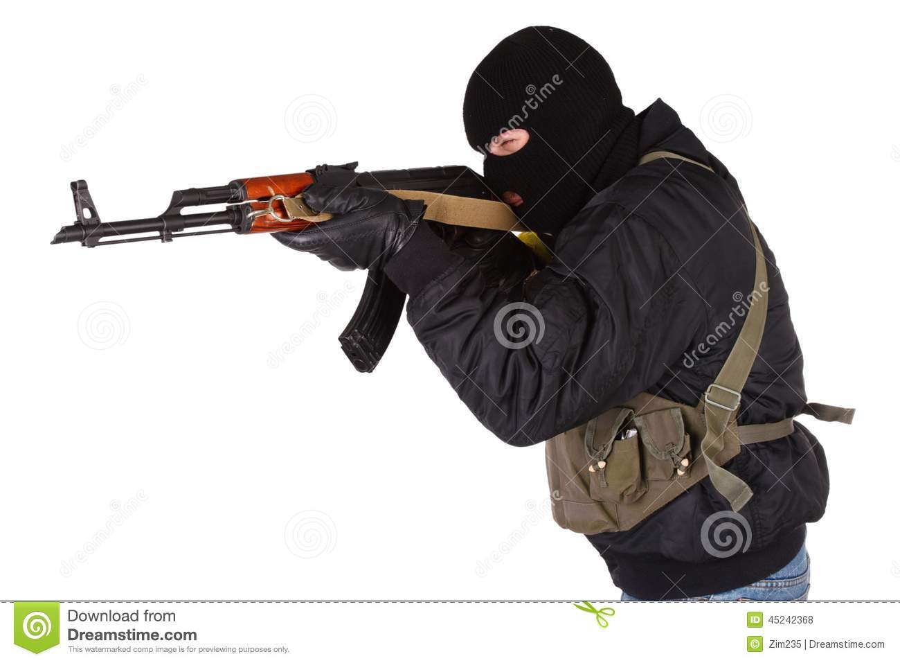 Robber With AK 47