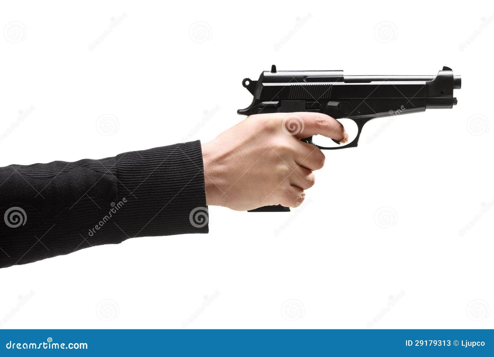 Robber holding a gun stock image. Image of murderer, crime ...