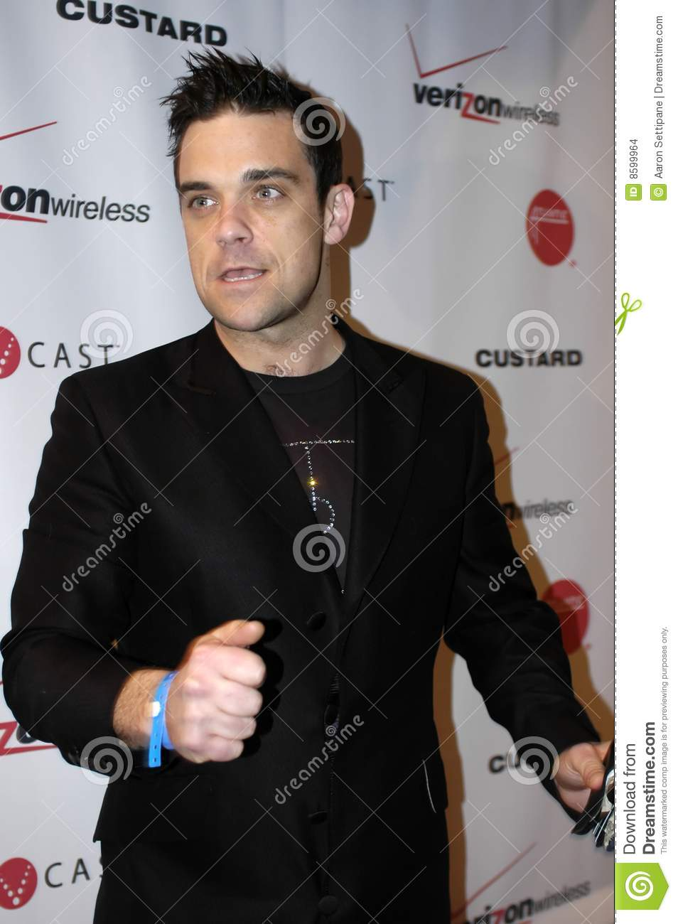 Robbie Williams on the red carpet