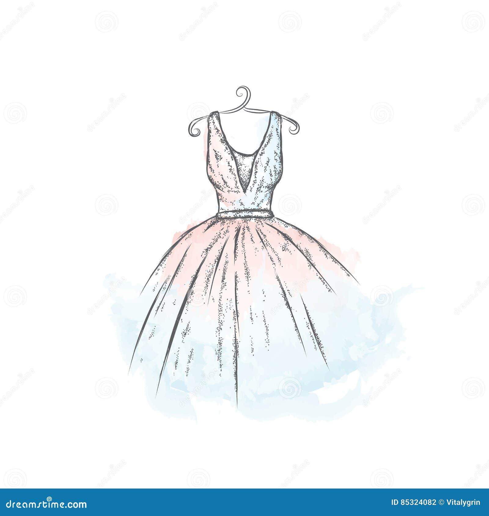Fille Dessin Fashion En Robe