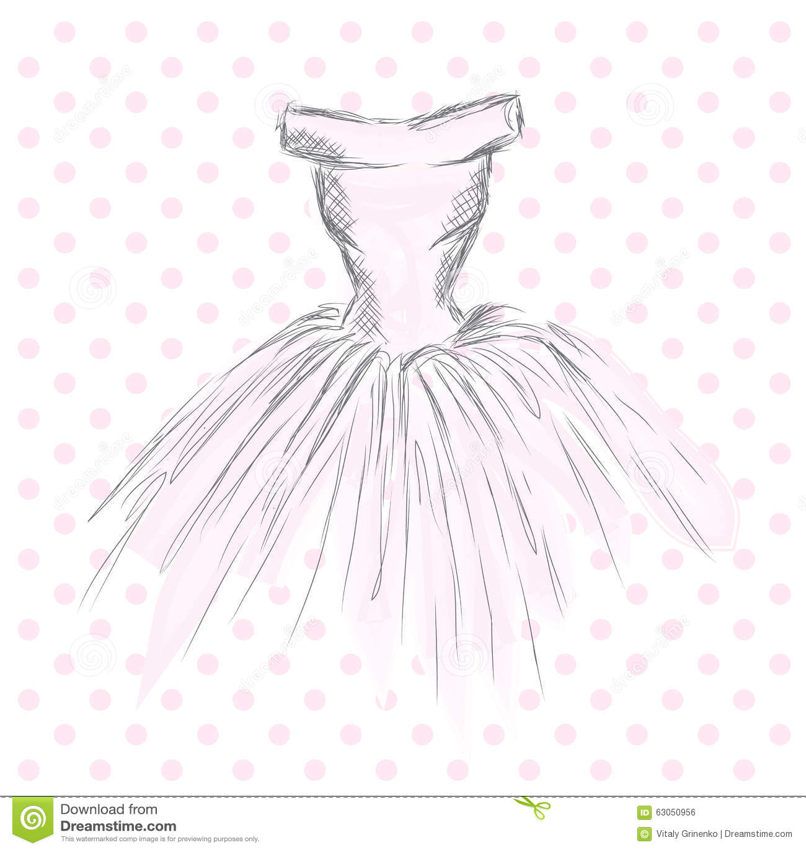 robe dans le vecteur v tements de dessin de main cru mode illustration de vecteur image 63050956. Black Bedroom Furniture Sets. Home Design Ideas