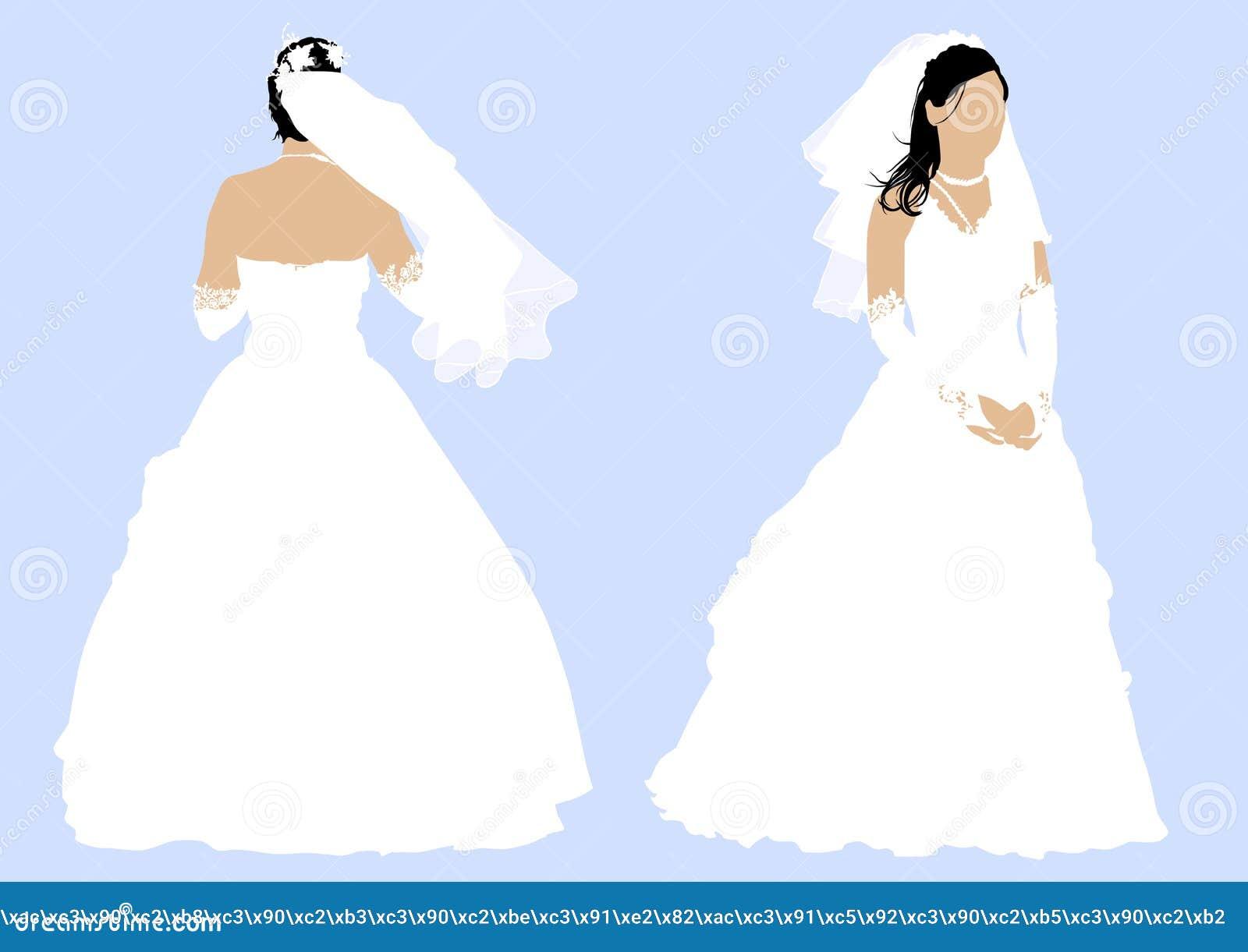 Robe De Mariage Illustration De Vecteur Illustration Du