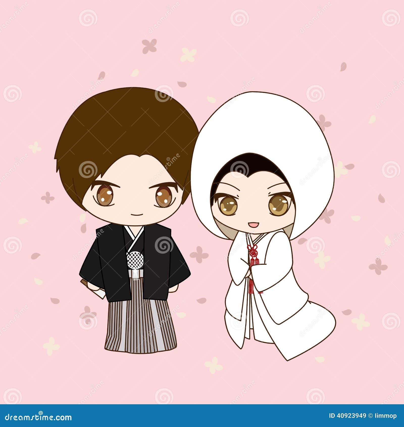 Robe de mariage japonaise illustration de vecteur ... X 23 Costume